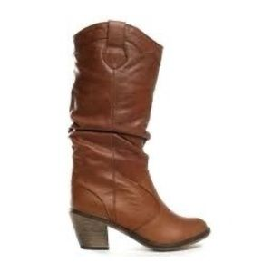 Steve Madden Ruched Western Boots 6